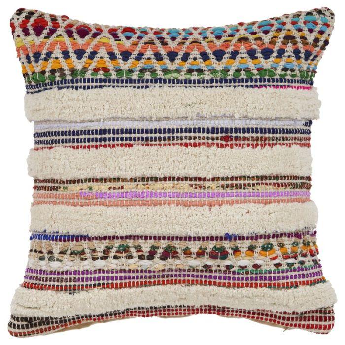 Myrna Chevron Striped Cotton Throw Pillow