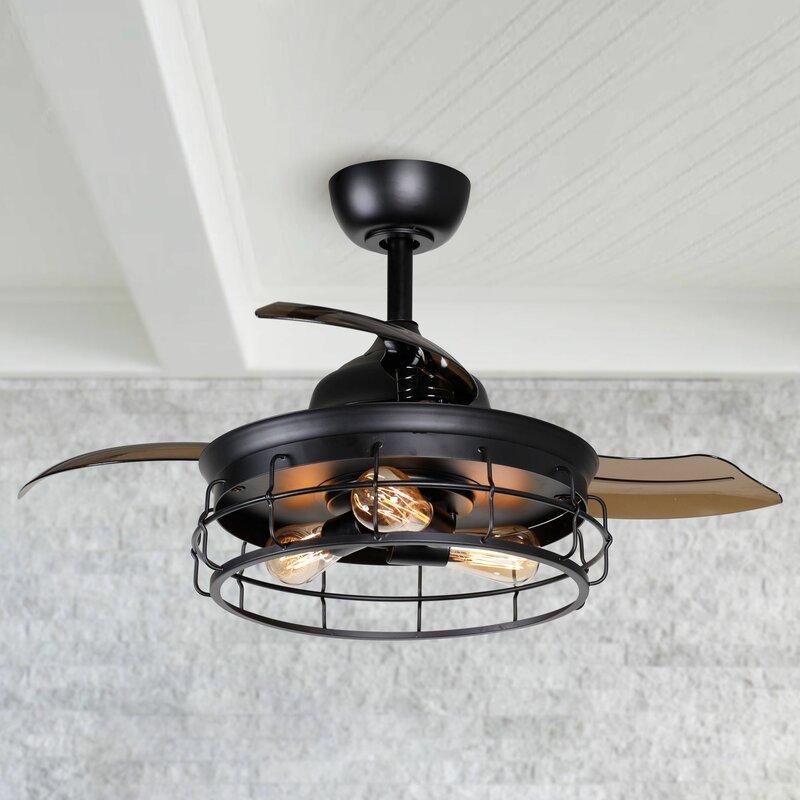 Petra 4 - Blade Retractable Blades Ceiling Fan