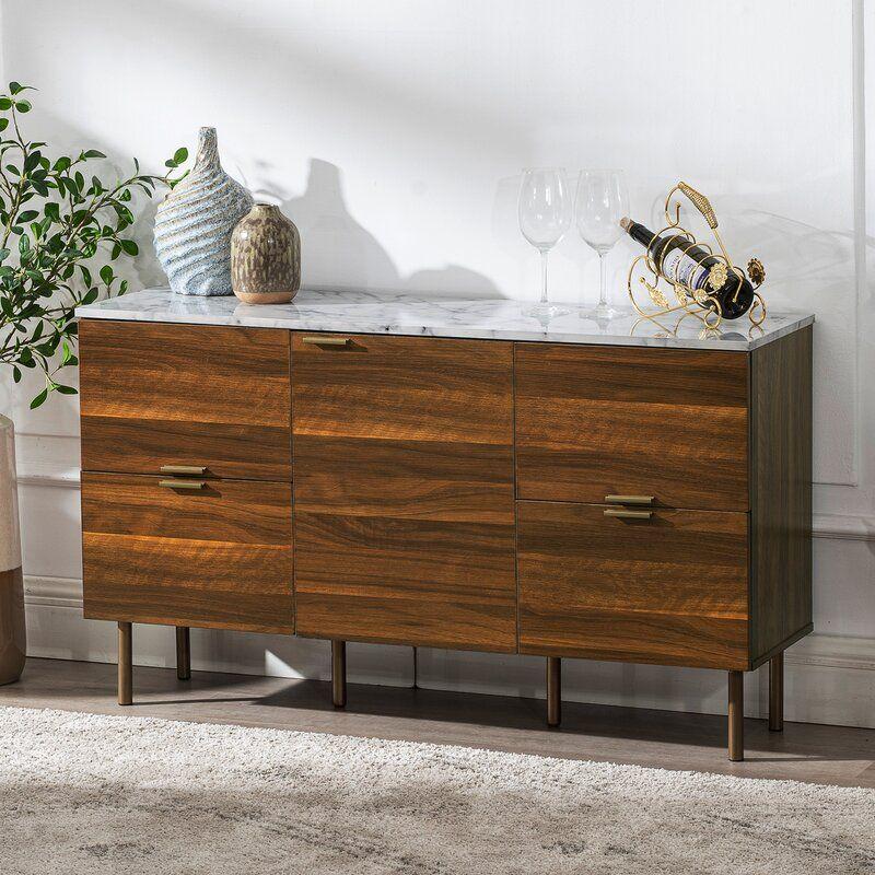 Pitzer 4 Drawer Wood Sideboard