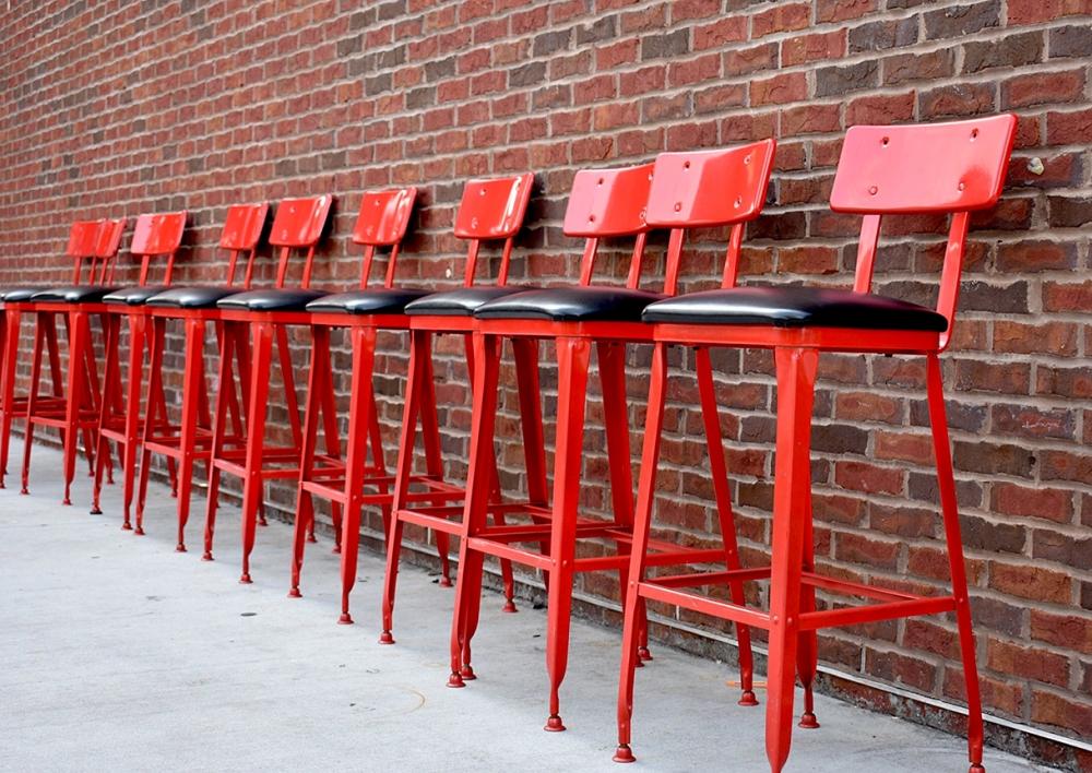 Red bar stool