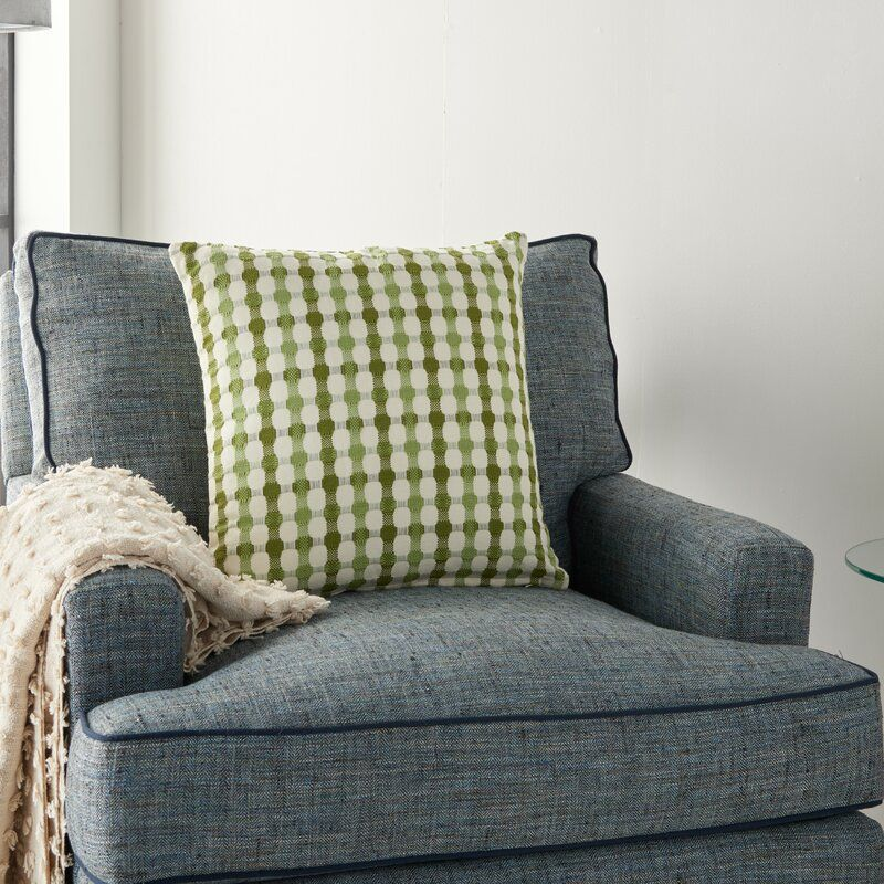 Rhys Square Cotton Pillow Cover & Insert