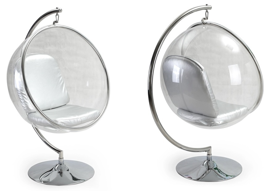 Hanging bubble chair with stand