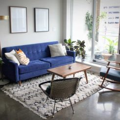How to Choose the Right Size Mid-Century Modern Rug