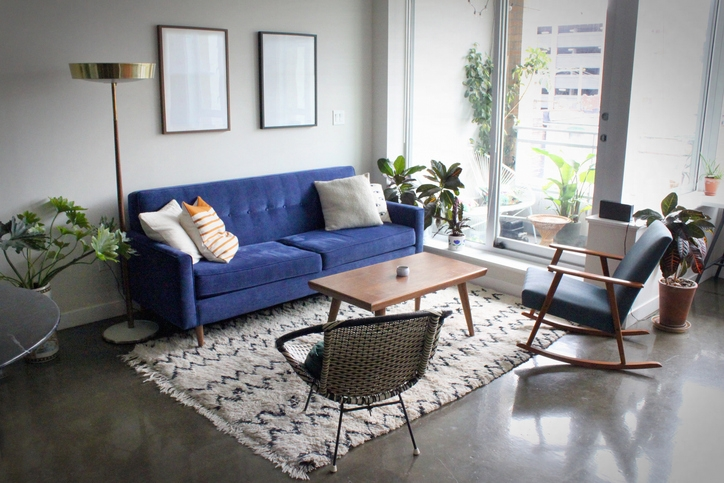 Anchor Your Space with a Mid-Century Modern Rug