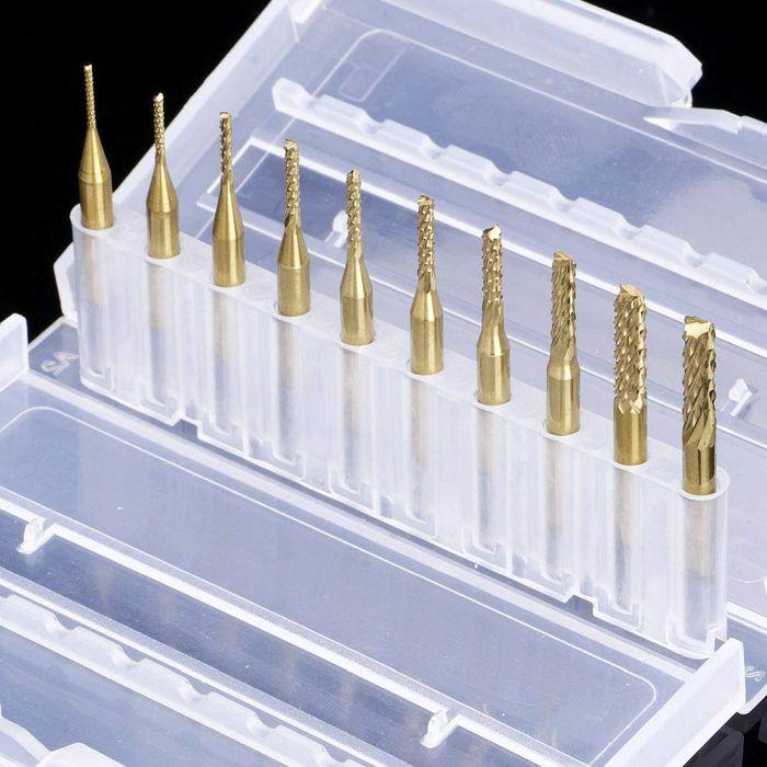 Titanium Coated Engraving Milling Cutter Carbide Bits