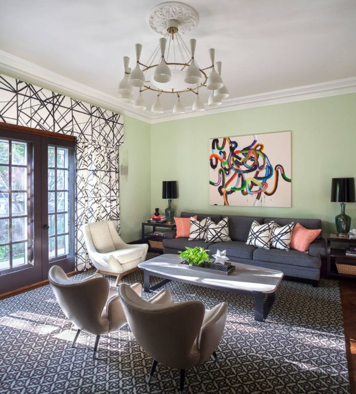 Transitional Living Room in New York