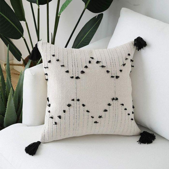 Unibedding Tufted Boho Lumbar Throw Pillow Covers