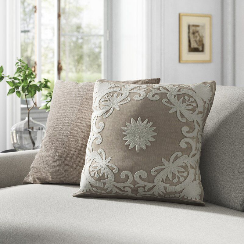 Wells Cotton Floral Throw Pillow