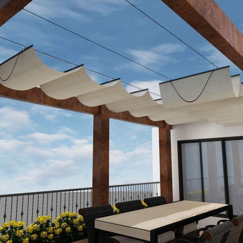 Windscreen 4 Less Retractable Pergola Shade