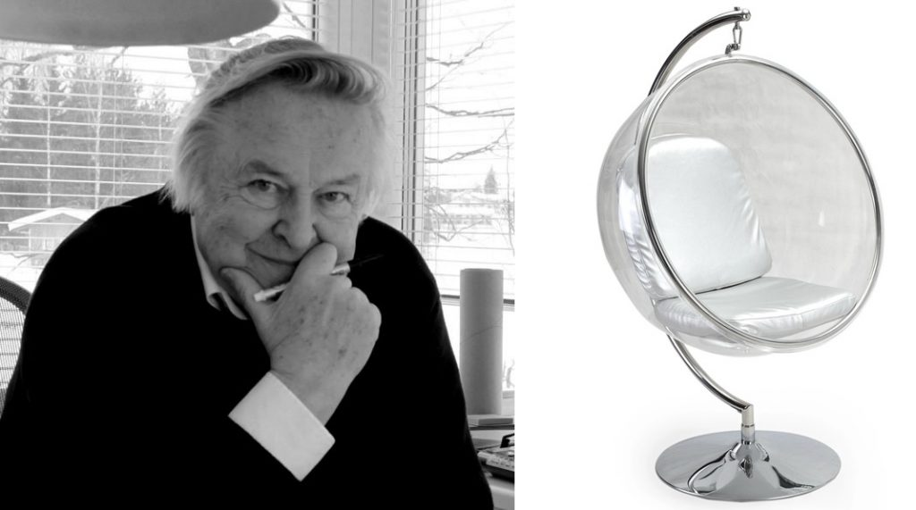 bubble chair was actually created back in 1968, by Finnish designer Eero Aarnio