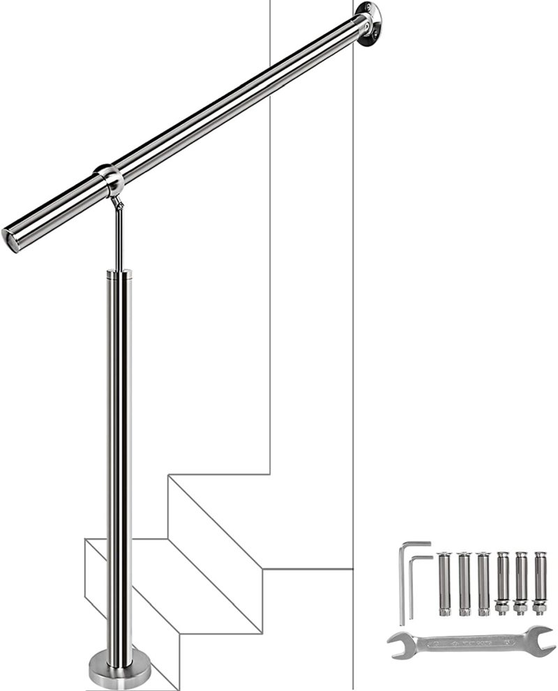 Brushed Stainless Steel Handrail Railing