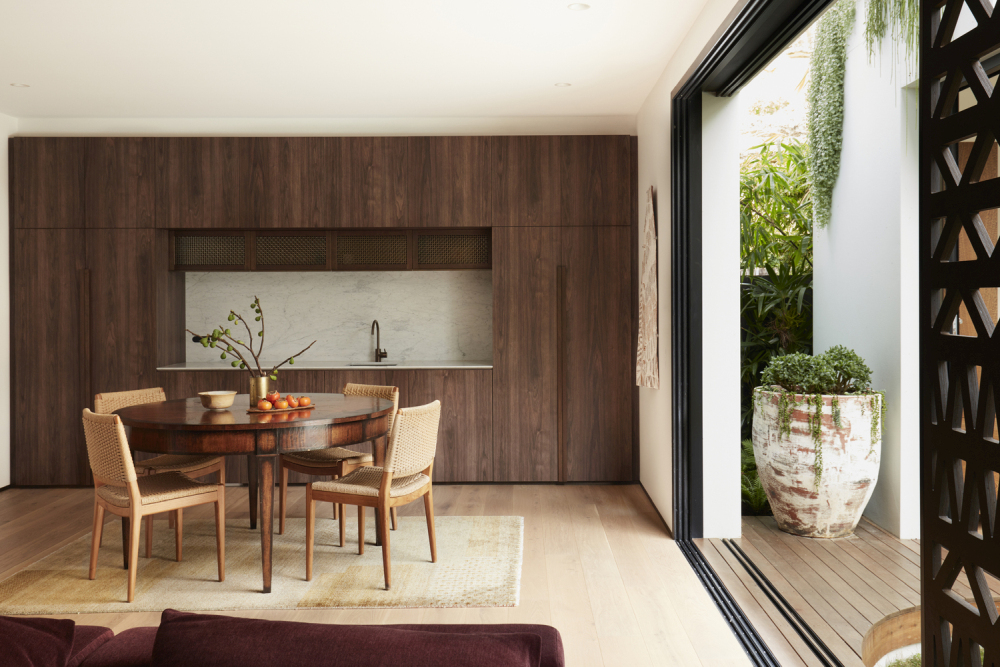 Sliding doors allow for a seamless and smooth transition between the indoor and outdoor areas