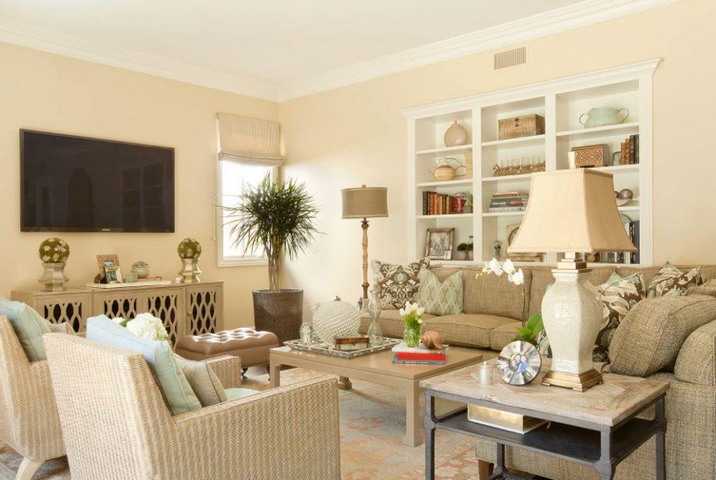 Beige living room decor