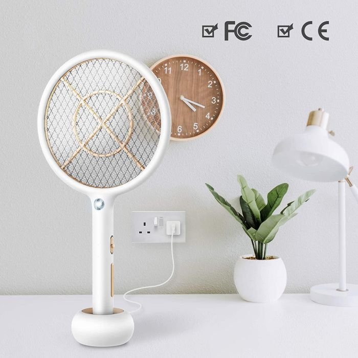 Bug Zapper Electric Fly Swatter USB Rechargeable