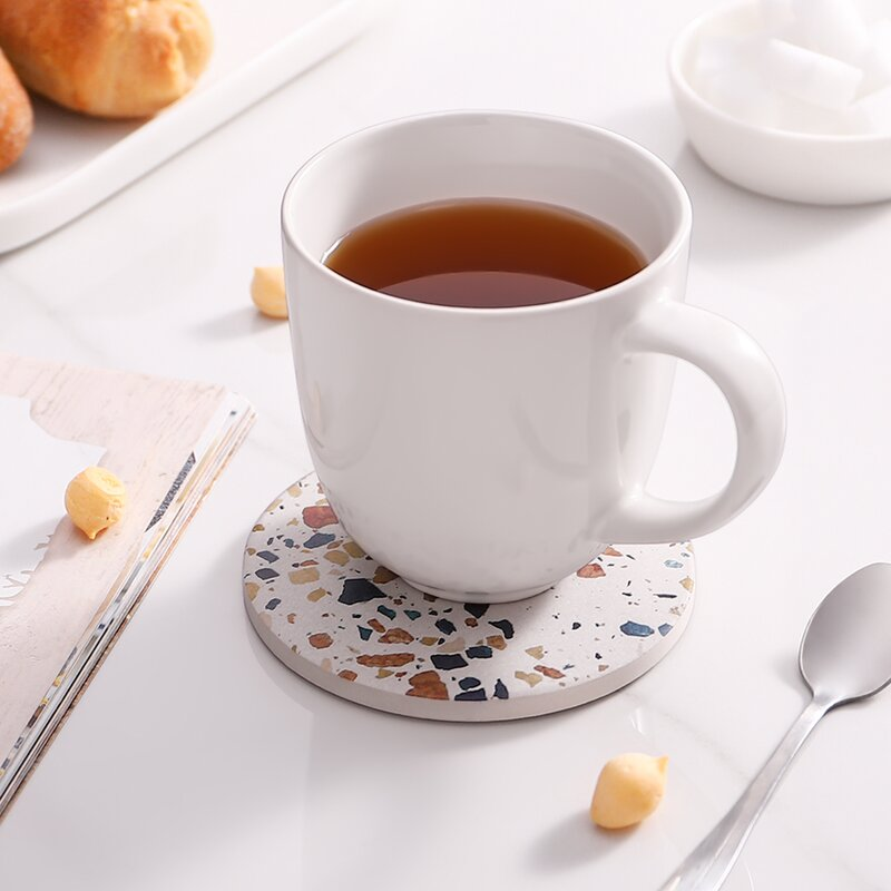 Ceramic Coaster Set with Holder