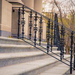 Concrete stair railing