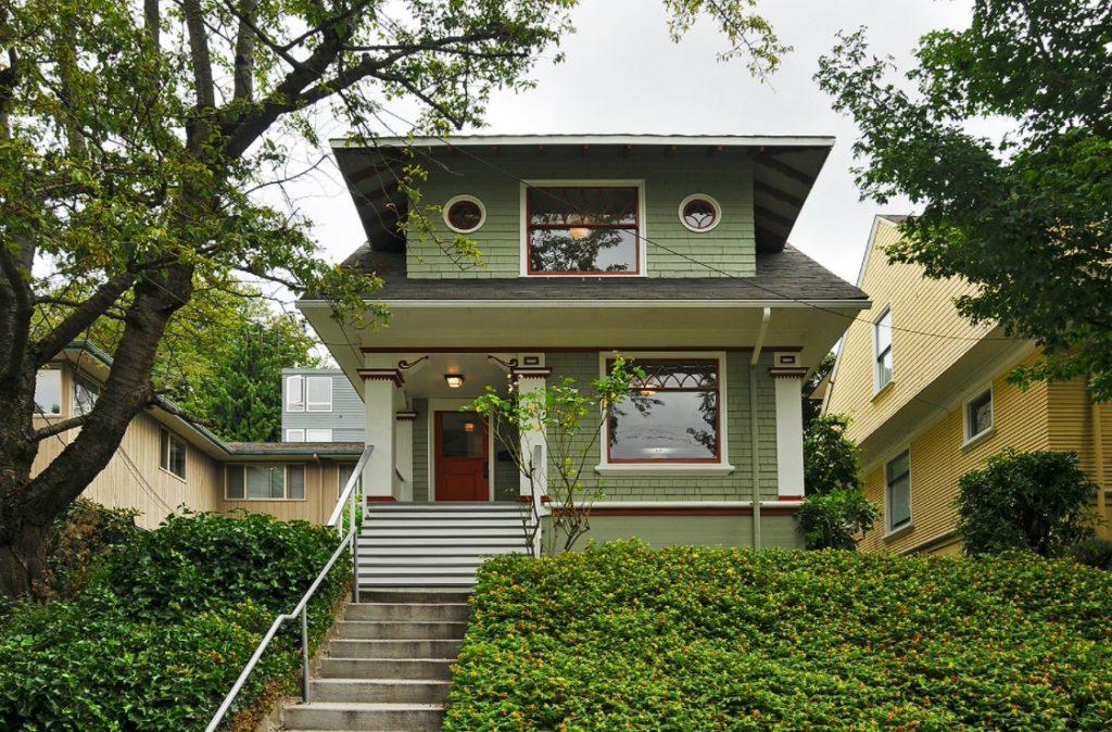 Craftsman Green House Exterior