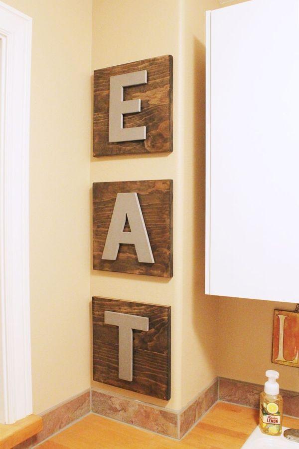 """""""EAT"""" – Wooden DIY Wall Art"""