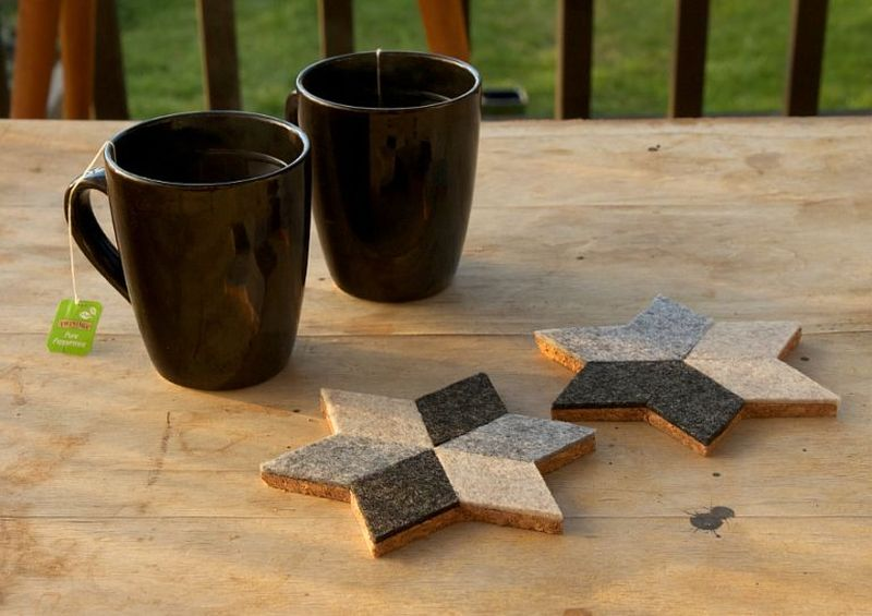 Felt Crafts – DIY Geometric Coasters
