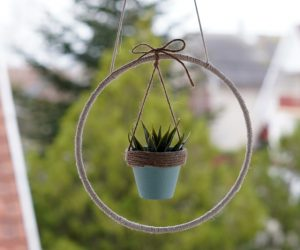 DIY Mini Hanging Planter for Succulents And Cacti