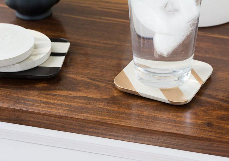DIY Painted Concrete Coasters