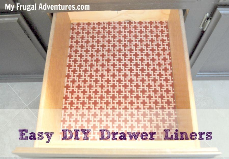 DIY Shelf and Drawer Liners