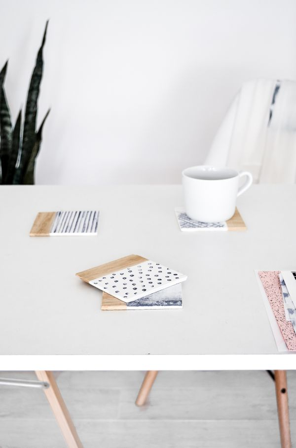 DIY Water Pattern Inspired Coasters