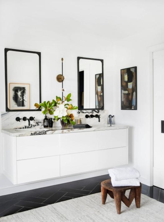 Modern Bathroom with Floating Vanity