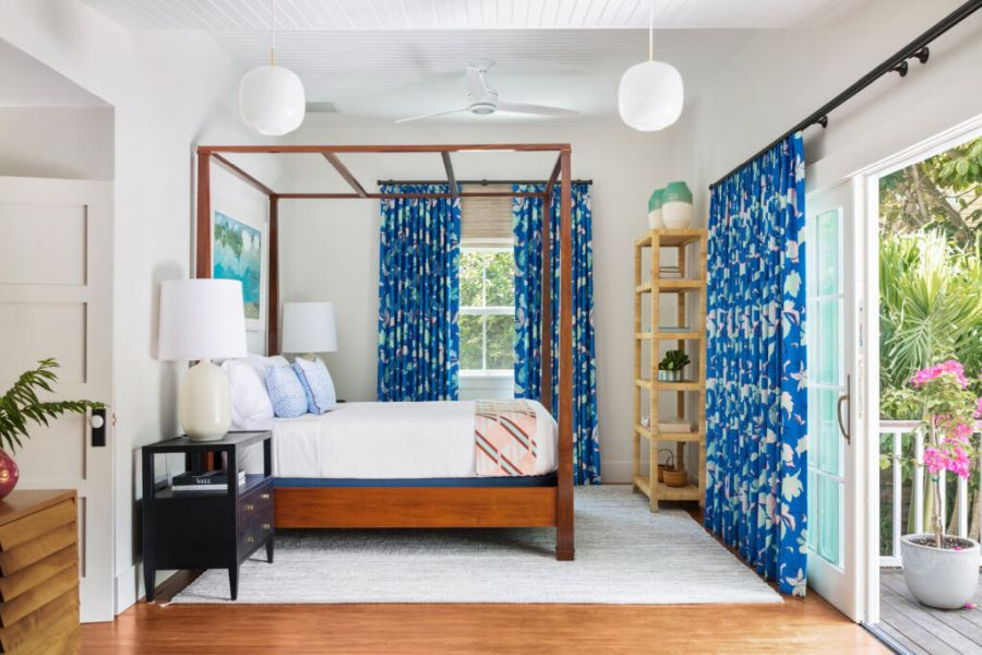 Hang colorful curtains