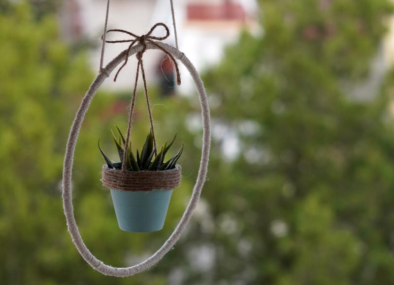 DIY Mini Hanging Planter