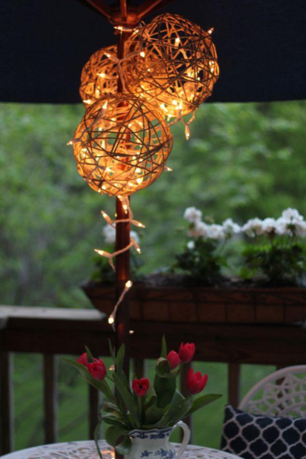 Hanging string lanterns
