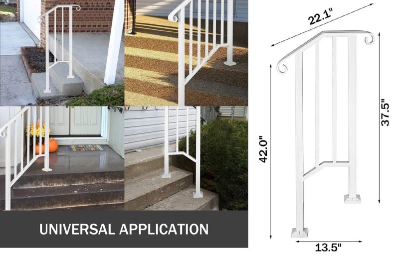Simple 1 or 2 Steps Handrail Picket
