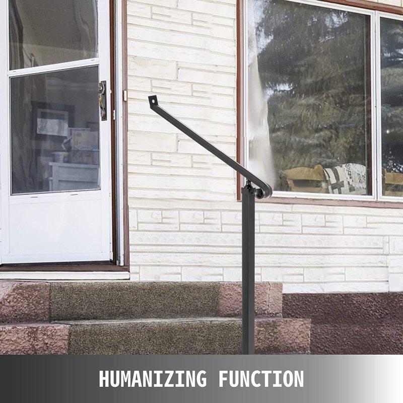 Black Wrought Iron Step Railing Handrails