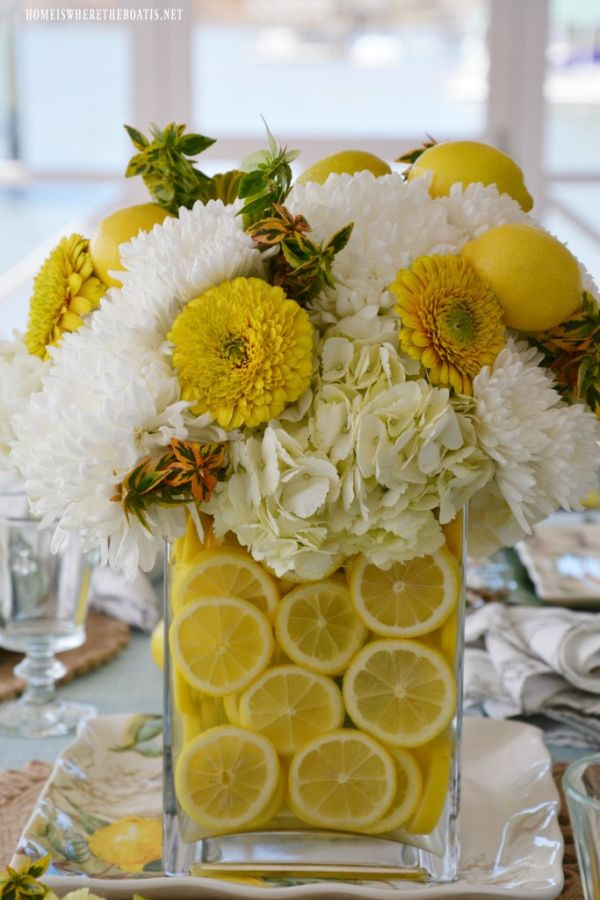 Home is where the boat is lemon vase