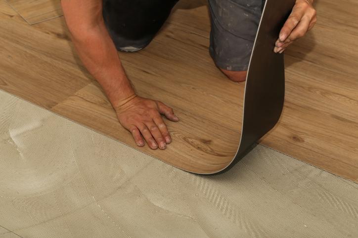 vinyl floor over tile
