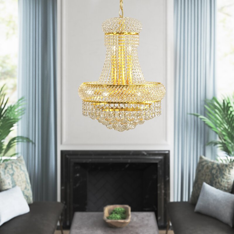 Light Unique Empire Chandelier with Crystal Accents