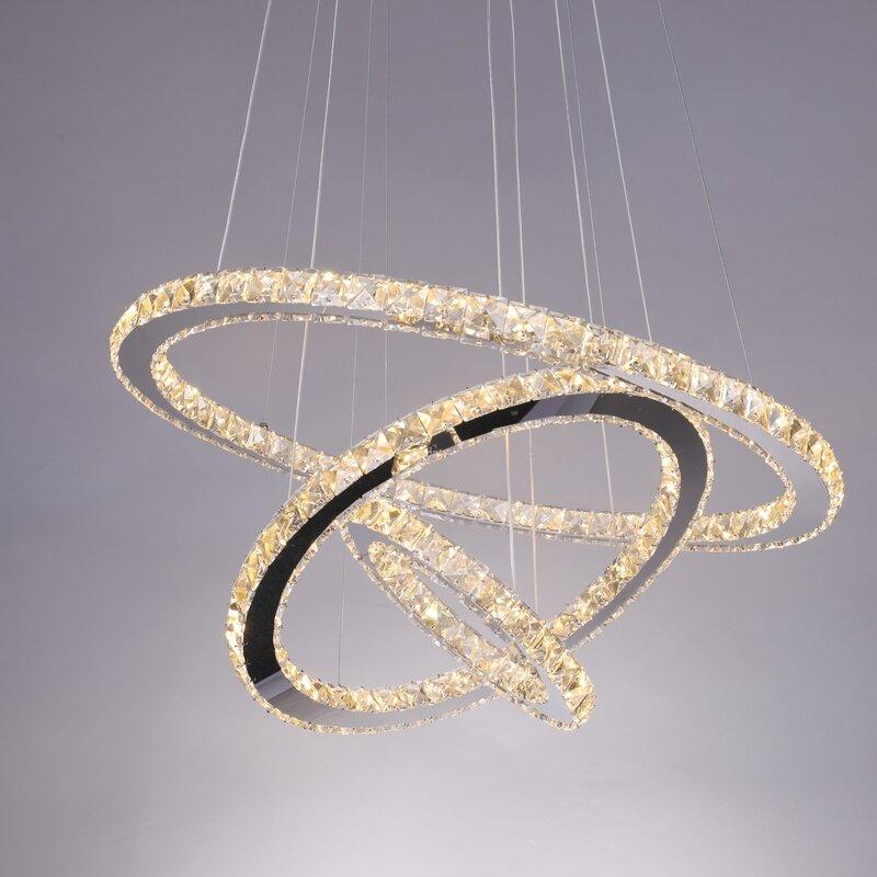 Light Unique Geometric LED Chandelier