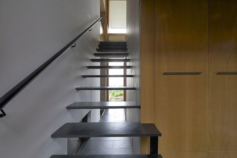 Black Minimal suspended staircase
