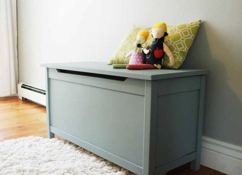 DIY Modern Wooden Toy Box with Lid