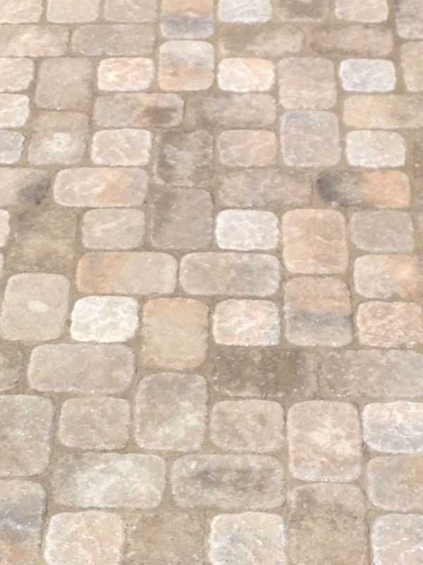 how to install pavers with pattern