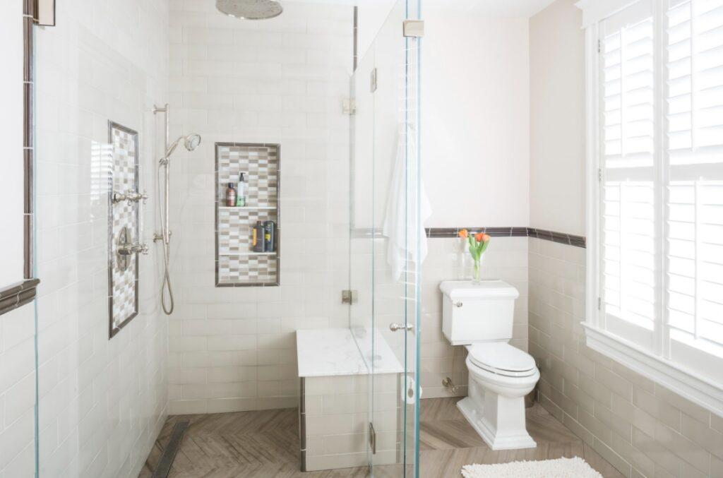 Roll in walk in shower design