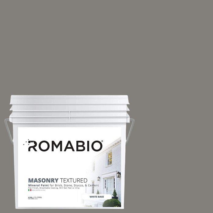 Romabio Masonry Textured, Italian Mineral Paint for Brick