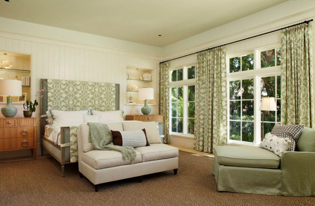 Sage and beige bedroom decor