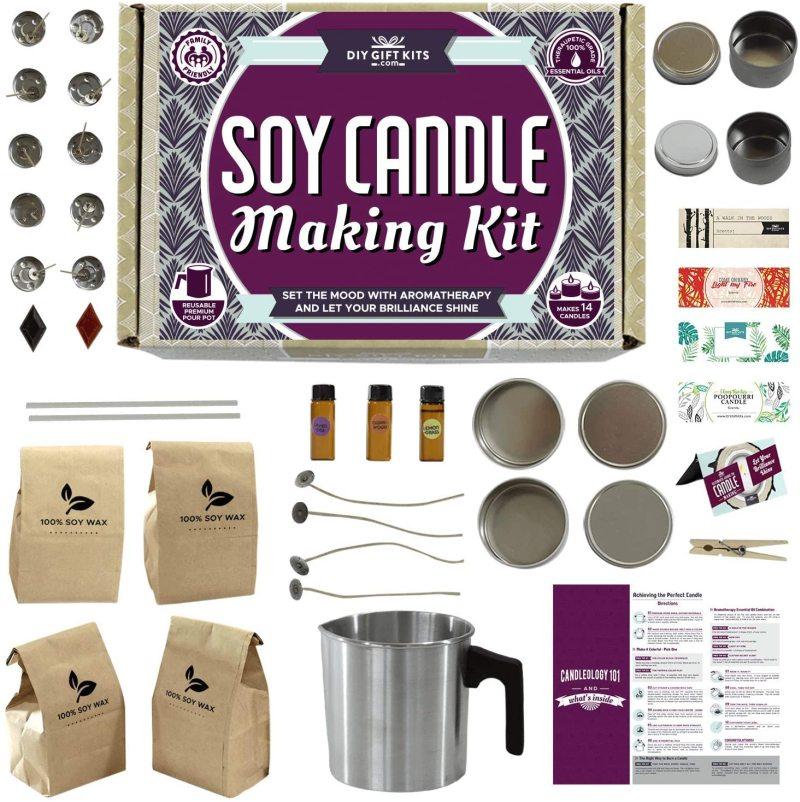 DIY Gift Kits Soy Candle Making Kit (49-Piece Set)