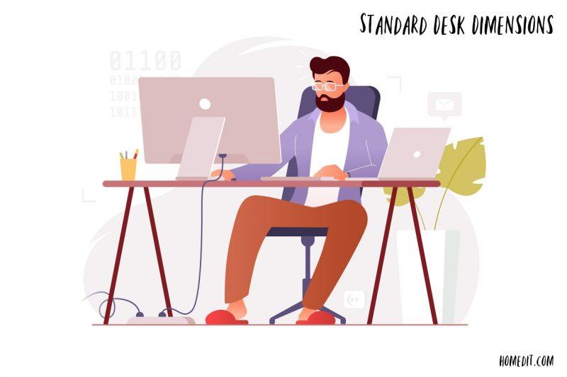 Standard Desk Dimensions For Office And Home Desks
