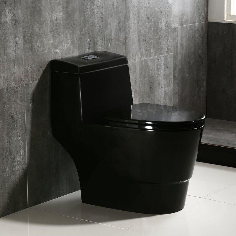 Woodbridge 128 gpf water efficient elongated one piece toilet seat