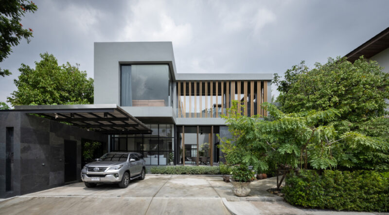 Contemporary House In Bangkok Centered Around A Swimming Pool