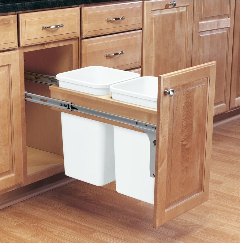 Best Hanging Trash Bin Cabinet -7 Gallon Pull out Trash Can