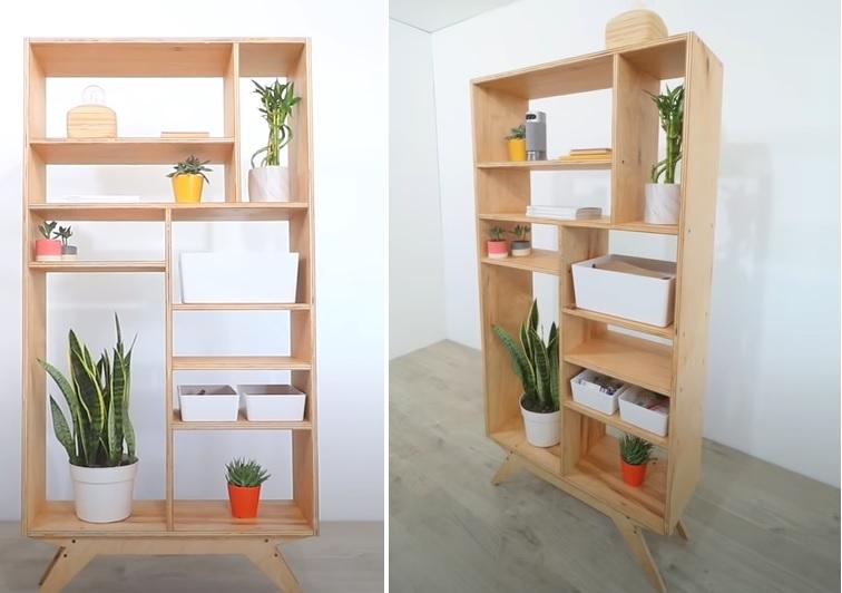 A customizable mid-century modern bookcase