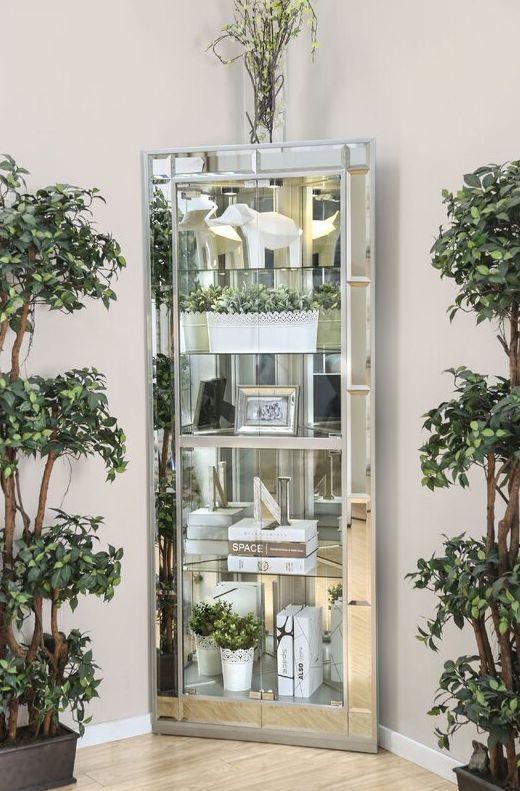 Aldo Lighted Curio Cabinet